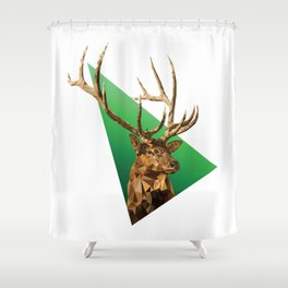 LOW POLY ELK Shower Curtain