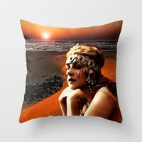 oasis Throw Pillows featuring Oasis by Danielle Tanimura