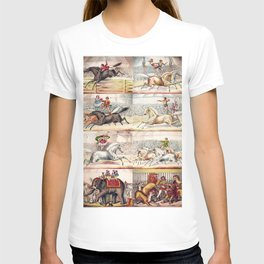1875 Montage of Traveling America Circus Acts Posters T-shirt