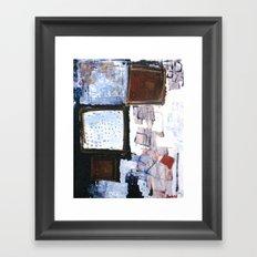 b o x i n g b l u e 2 Framed Art Print