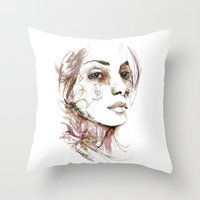 obey Throw Pillows featuring Obey by Bruno Gonçales