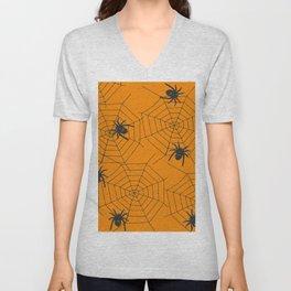Halloween Spider Illustration Unisex V-Neck
