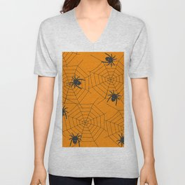 Halloween Spider Illustration Unisex V-Neck