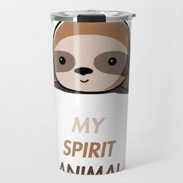 My animal spirit - Sloth Travel Mug
