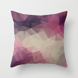 Polygon pattern . Triangles with a texture craquelure . Throw Pillow