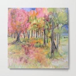 Autumn Woodlands Metal Print