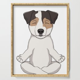 Parson Russell Terrier Meditate Serving Tray