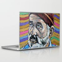 steve zissou Laptop & iPad Skins featuring BILL MURRAY aka STEVE ZISSOU aka DAYDREAM JOHNNY by Jamil Zakaria Keyani