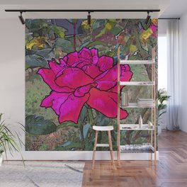 Red Rose in the garden Wall Mural