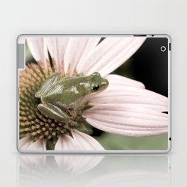 Treefrog on flower Laptop & iPad Skin