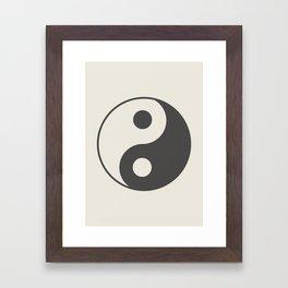 Yin Yang Framed Art Print