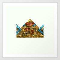 crown Art Prints featuring CROWN by TANGRAMMAR