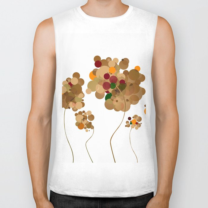 Abstract Trees Biker Tank