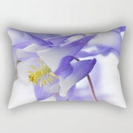 Columbine flower macro 285 Rectangular Pillow
