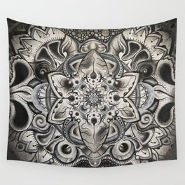 Helmet Head: Polluted Beauty Wall Tapestry
