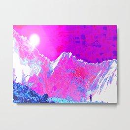Alpenglow in Violet Metal Print
