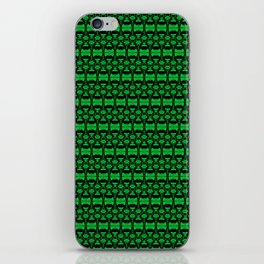 Dividers 02 in Green over Black iPhone Skin