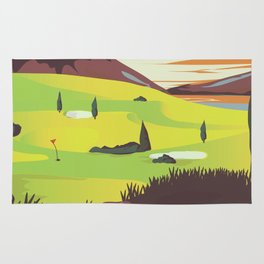 'For Golf' Northern Ireland Travel poster Rug