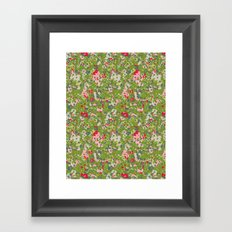 painted floral Framed Art Print
