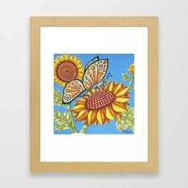 Steampunk Butterfly Framed Art Print