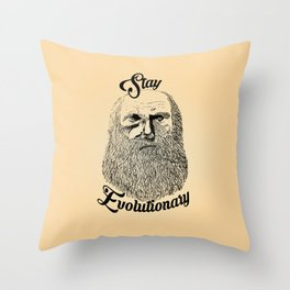 Evolutionary Throw Pillow