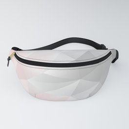 pink and gray geometric low poly background Fanny Pack