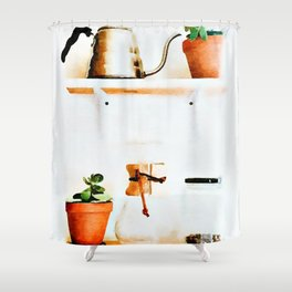 Plant Wall || #society6artprint #buyart Shower Curtain
