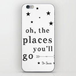 Oh the places you'll go - Dr Seuss iPhone Skin