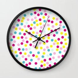 Polka dot pattern Wall Clock
