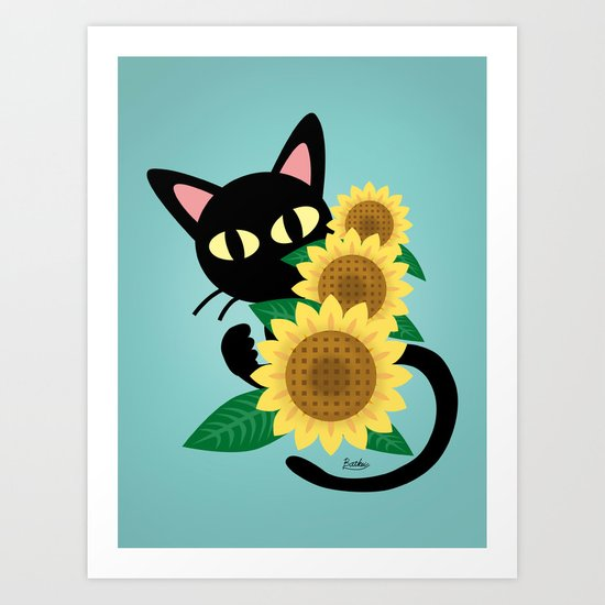 Whim with Sunflower Art Print