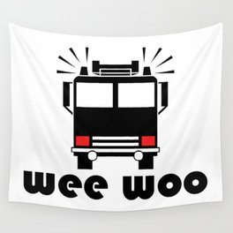 Firetruck Wee Woo Wall Tapestry