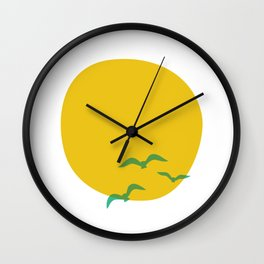 Midsummer Sun Wall Clock