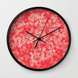 pink circles Wall Clock
