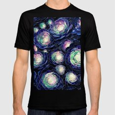 Plant Life At Night Mens Fitted Tee Black MEDIUM