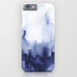 Moody Indigo Abstract Watercolor iPhone Case