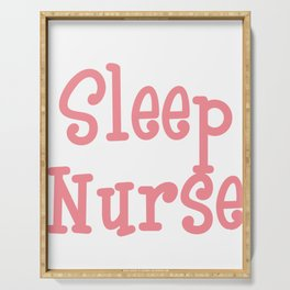 """""""Sleep All Day Nurse All Night"""" tee design. Cute and adorable gift to your friends and family!  Serving Tray"""