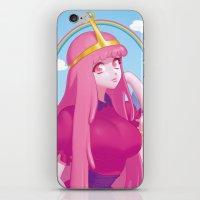 princess bubblegum iPhone & iPod Skins featuring Princess Bubblegum by quere