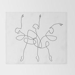 Ballet x 3 Throw Blanket