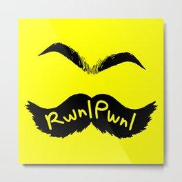 RwnlPwnl Mustache Metal Print