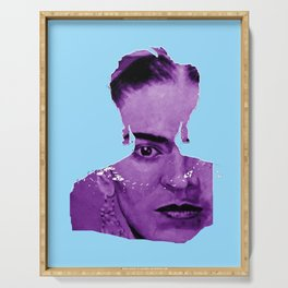FRIDA - shirt version - blue/purple Serving Tray