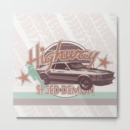 Vintage Car v.3 Metal Print