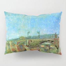 The Seine Bridge at Asnieres by Vincent van Gogh Pillow Sham