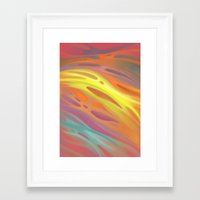 aurora Framed Art Prints featuring Aurora by Ma. Luisa Gonzaga