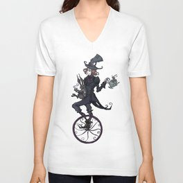 The Mad Hatter Unisex V-Neck