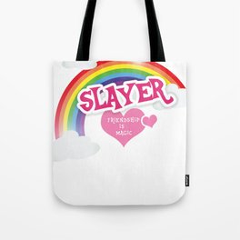 Slayer is lief Tote Bag