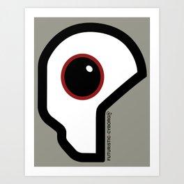 Futuristic Cyborg Logo 10 Art Print