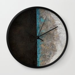 Eclipse - original encaustic painting Wall Clock