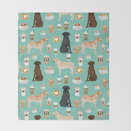 Labrador retriever gifts for lab owners golden retriever chocolate lab black lab dog breeds Throw Blanket