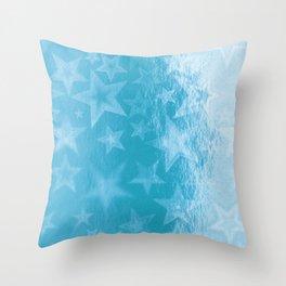 Sky Blue Starshine Throw Pillow