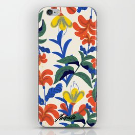 Vintage Floral Pattern iPhone Skin